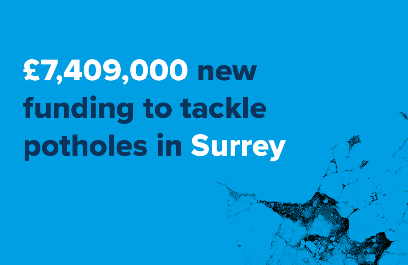 Funding for potholes in Surrey