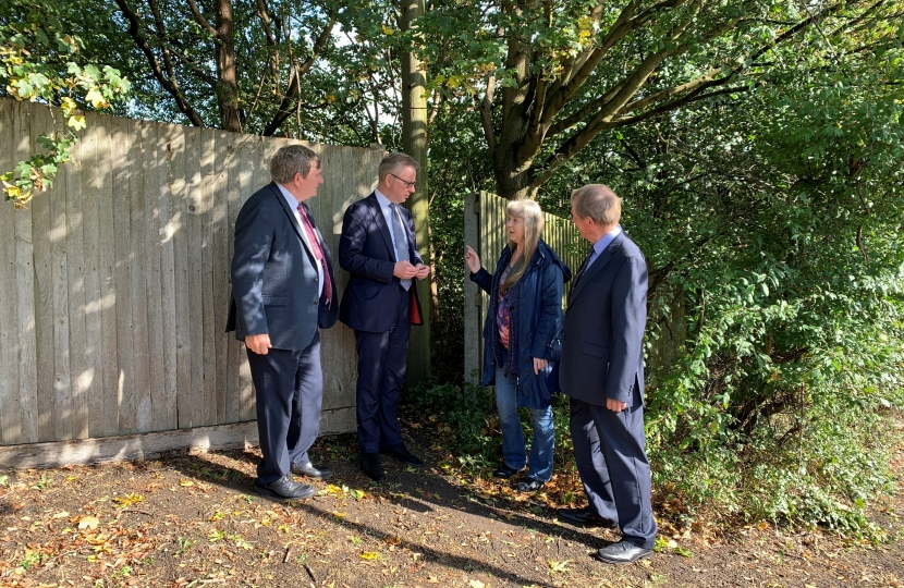 Michael and Councillors - A322 lay-by in Bagshot
