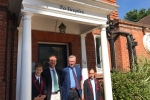 Michael Gove with Headmaster, Andrew Rudkin, Natalia and Henry
